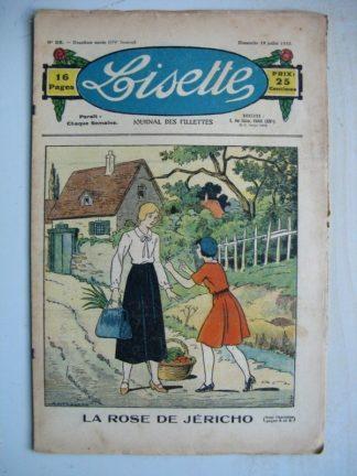 LISETTE n°28 (10 juillet 1932) La rose de Jéricho (Louis Maîtrejean) Noëlle et Mistenflûte (Le Rallic)