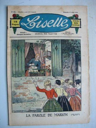 LISETTE n°29 (17 juillet 1932) La parole de Marion (Louis Maîtrejean) Noëlle et Mistenflûte (Le Rallic)