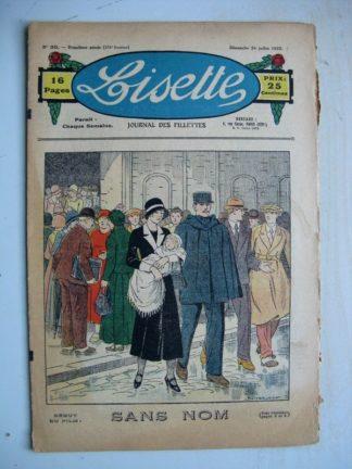 LISETTE n°30 (24 juillet 1932) Sans nom (Louis Maîtrejean) Poupée Lisette (Vareuse)