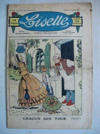 LISETTE n°31 (31 juillet 1932) Chacun son tour (Georges Bourdin) La boite de Pandore (Pierre Soymier)