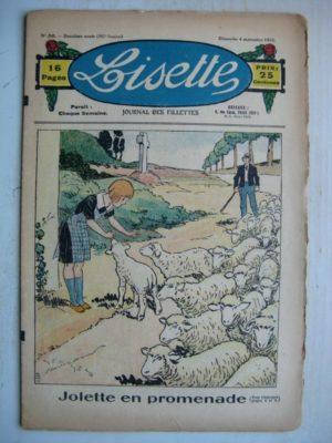 LISETTE n°36 (4 septembre 1932) Jolette en promenade (Georges Bourdin)