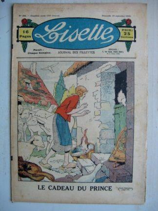 LISETTE n°38 (18 septembre 1932) Le cadeau du prince (Louis Maîtrejean) Poupée Lisette (ensemble jupe et veste)