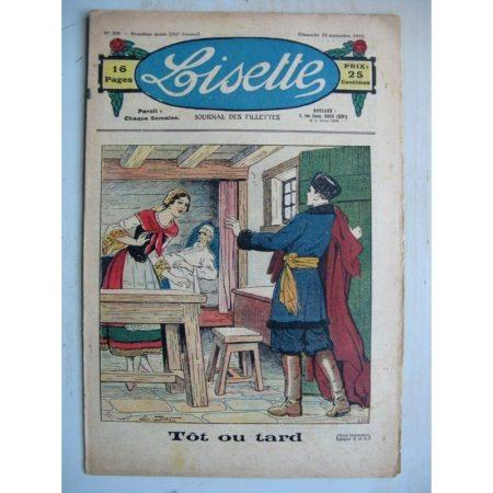 LISETTE n°39 (25 septembre 1932) Tôt ou tard (Emile Dot) Une bonne raison (Madeleine Léonce Petit)