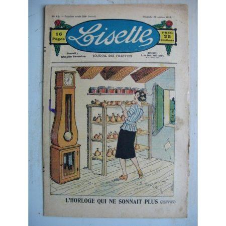 LISETTE n°42 (16 octobre 1932) L'horloge qui ne sonnait plus (Georges Bourdin) Poupée Lisette (chemise décolletée)