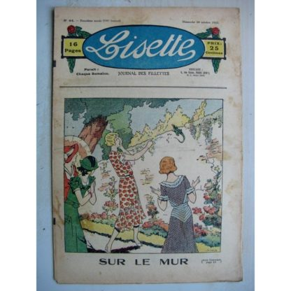 LISETTE n°44 (30 octobre 1932) Le lézard (Louis Maîtrejean) Menus propos (Matéja)