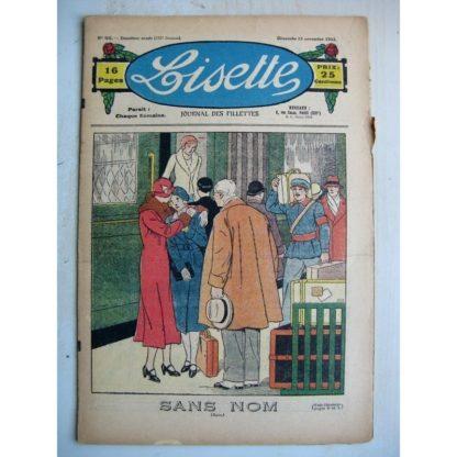LISETTE n°46 (13 novembre 1932) Sans nom (Louis Maîtrejean - G. de Bourg) Poupée Lisette (Robe Coquette)
