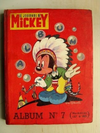 Reliure Journal de Mickey n°7 Nouvelle série (n°157 à 182) 1955