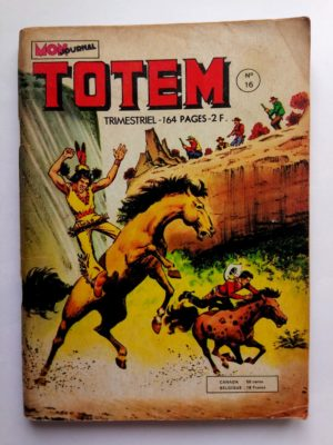 TOTEM 2E SERIE N°16 RENO KID – SIX BANDITS ET UN PAPILLON (Mon Journal 1974)