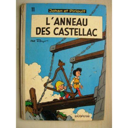 JOHAN ET PIRLOUIT TOME 11 - L'anneau des Castellac (Peyo) Dos Rond Dupuis 1974