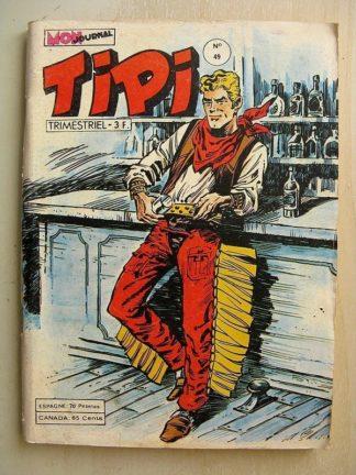 TIPI N°49 PECOS BILL (la carte divisée) KRIS LE SHERIF - La vallée préhistorique (Mon Journal 1979)