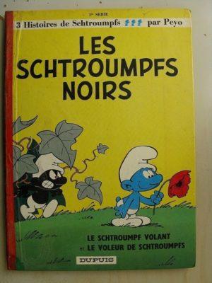 Les Schtroumpfs Noirs – Le Schtroumpfs volant – Le voleur de Schtroumpfs – Peyo – (Dupuis 1965)