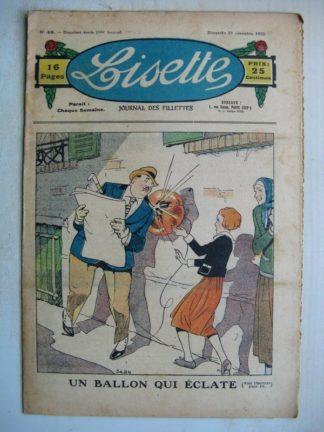 LISETTE n°48 (27 novembre 1932) Un ballon qui éclate (Louis Maîtrejean) Ginette (Maurice Cuvillier)