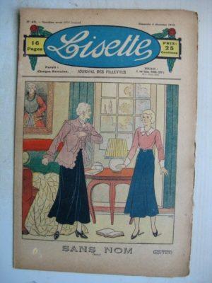 LISETTE n°49 (4 décembre 1932) Sans nom (Louis Maîtrejean) Margotine (Liverani)