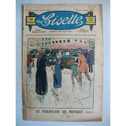 LISETTE n°50 (11 décembre 1932) Le parapluie de Monique (Georges Bourdin) L'ondulation (Maurice Cuvillier)