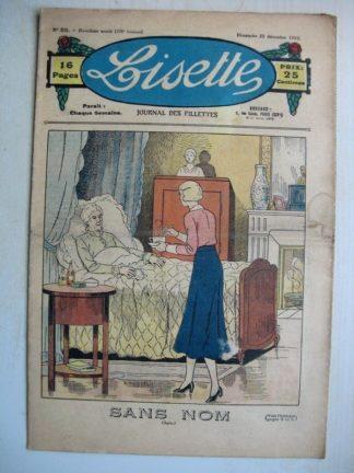 LISETTE n°52 (25 décembre 1932) Poupée Lisette (Manteau coquet) Conte de Noël - Trois enfants
