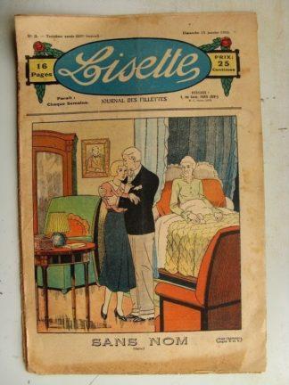 LISETTE n°3 (15 janvier 1933) Fanfaronade et timidité (René Louys)