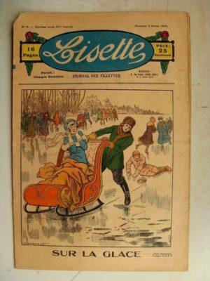 LISETTE N°6 (5 février 1933) Sur la glace (Louis Maîtrejean) Les deux poissons chinois (Gervy)