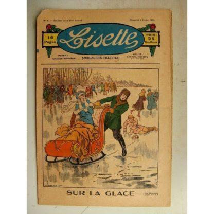 LISETTE n°6 (5 février 1933) Sur la glace (Louis Maîtrejean) Les dux poissons chinois (Gervy)