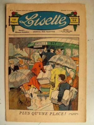 LISETTE N°7 (12 février 1933) Plus qu'une place dans l'autobus (Louis Maîtrejean) Portrait (Madeleine Léonce Petit)