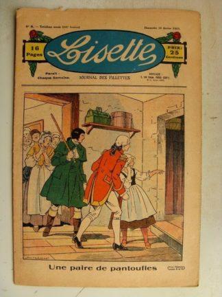 LISETTE n°8 (19 février 1933) Une paire de pantoufles (Louis Maîtrejean) Poupée Lisette (Combinaison-jupon)