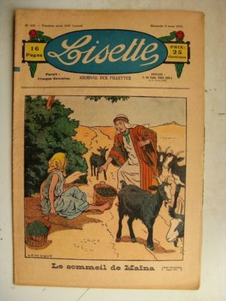 LISETTE n°10 (5 mars 1933) Le sommeil de Maïna (Le Rallic) Simple distraction (Matéja)