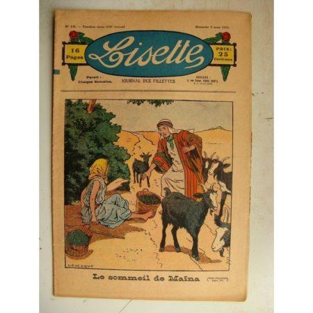 LISETTE n°10 (5 mars 1933) Le sommeil de Maïna (Le Rallic) Simple distraction (Matéja)