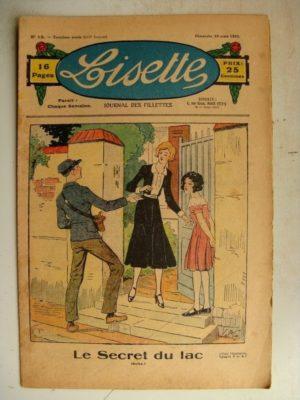 LISETTE N°12 (19 mars 1933) Le secret du lac (Emile Dot) Poupée Lisette (Robe en tissu deux tons)
