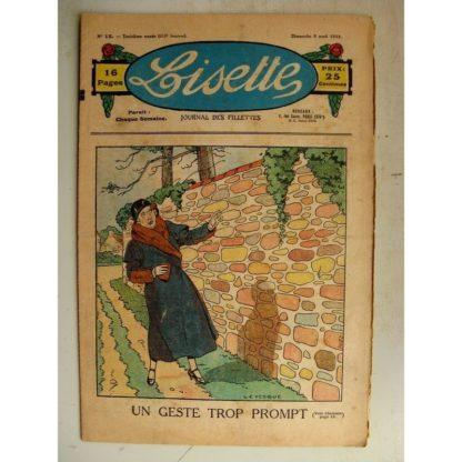 LISETTE n°15 (9 avril 1933) Un geste trop prompt (Le Rallic) La ménagère (Pierre Soymier)