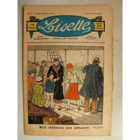 LISETTE n°16 (16 avril 1933) En allant au phare (Louis Maîtrejean) Poupée Lisette (Ensemble jupe et bouse)