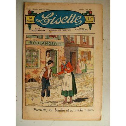 LISETTE n°19 (7 mai 1933) Pierrette (Louis Maîtrejean) Le vieux mur (Siana)