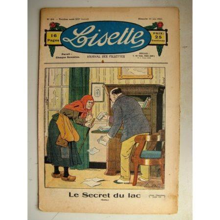 LISETTE n°24 (11 juin 1933) Le secret du lac (Emile Dot) La petite Annie (Darell McClure)