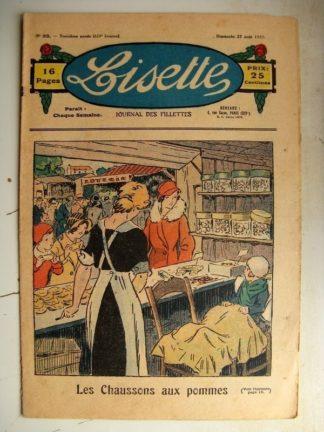 LISETTE n°35 (27 août 1933) Les chaussons aux pommes (Georges Bourdin)