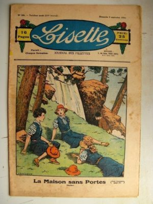 LISETTE n°36 (3 septembre 1933) La maison sans portes (Le Rallic) Poupée Lisette (Tablier pour écolière)