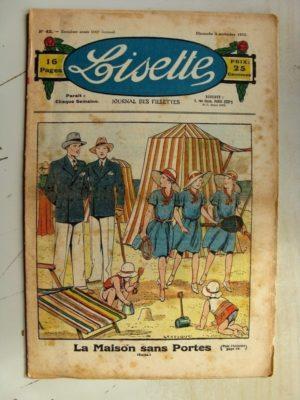 LISETTE N°45 (5 novembre 1933) La maison sans portes (Le Rallic – Claude Renaudy) Broderie Bretonne
