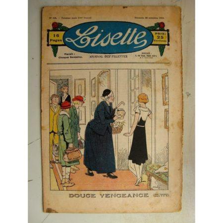 LISETTE n°48 (26 novembre 1933) Douce vengeance (Louis Maîtrejean) Peau d'Ane (Georges Bourdin) Poupée Francette