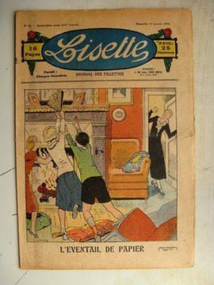 LISETTE N°2 (14 janvier 1934) L'éventail de papier (Louis Maîtrejean) Poucette (Georges Bourdin)
