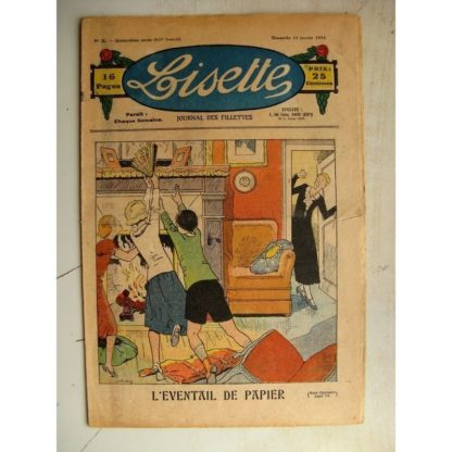 LISETTE n°2 (14 janvier 1934) L'éventail de papier (Louis Maîtrejean) Poucette et ses soeurs (Georges Bourdin)