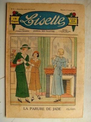 LISETTE N°3 (21 janvier 1934) Poucette et ses soeurs (Georges Bourdini) Poupée Francette (Tablier coquet)