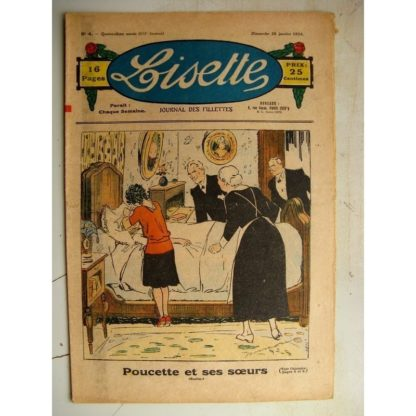LISETTE n°4 (28 janvier 1934) Poucette et ses soeurs (Georges Bourdin) Jeux et jouets (Henriette Roynette)