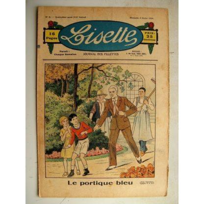 LISETTE n°5 (4 février 1934) Crêpes de la chandeleur (Liverani) Robe de demoiselle d'honneur (croquis)