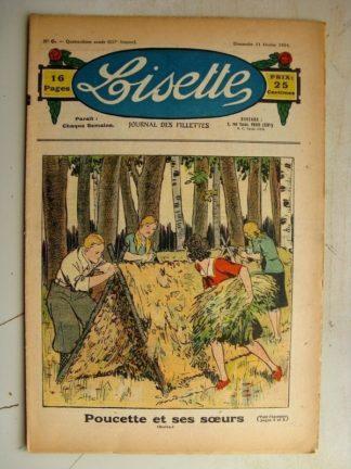 LISETTE n°6 (11 février 1934) Charlotte fait du sport (Gervy) Les beignets de carnaval (Arsène Brivot)