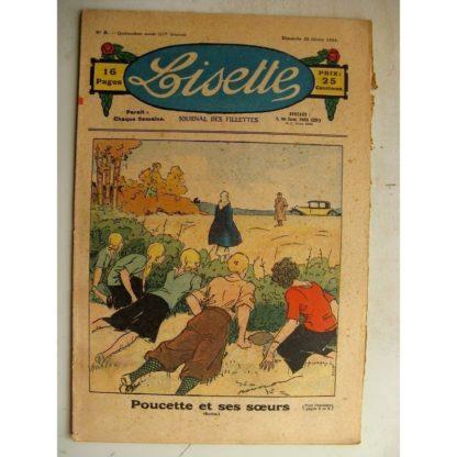 LISETTE n°8 (25 février 1934) Poucette et ses soeurs (Georges Bourdin) Le chagrin de Monique (Emile Vavasseur)