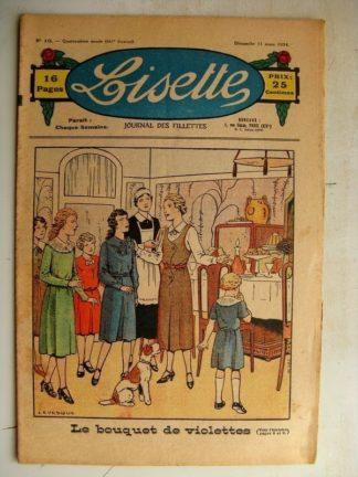 LISETTE n°10 (11 mars 1934) Le bouquet de violettes (Le Rallic) Ma chèvre (vielle chanson bressanne)