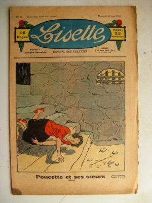 LISETTE N°11 (18 mars 1934) Poucette et ses soeurs (Georges Bourdin) Poupée Francette (Parure)