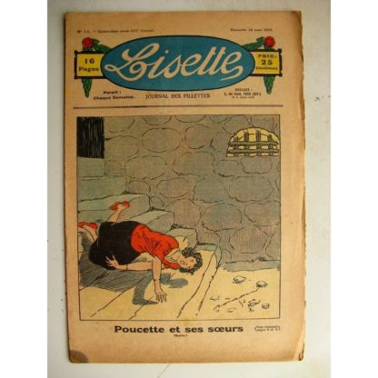 LISETTE n°11 (18 mars 1934) Poucette et ses soeurs (Georges Bourdin - Noël Tani) Poupée Francette (Parure)