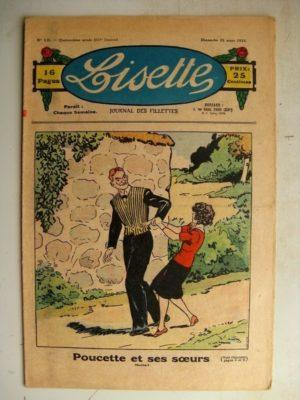 LISETTE N°12 (25 mars 1934) Poucette et ses soeurs (Georges Bourdin) Pompon (Norbert Sevestre)