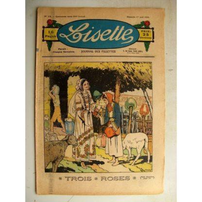 LISETTE n°13 (1er avril 1934) Trois roses (Louis Maîtrejean) Poisson d'avril (S. Ducamp)