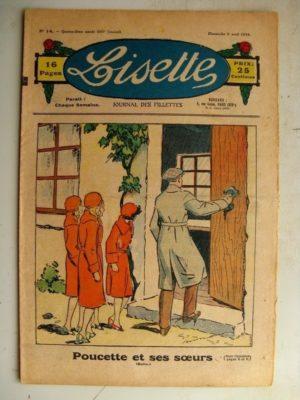 LISETTE N°14 (8 avril 1934) Poucette et ses soeurs (Georges Bourdin) Nellie Farren (Madeleine Léonce Petit)