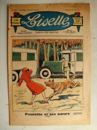 LISETTE n°16 (22 avril 1934) Poucette et ses soeurs (Georges Bourdin - Noël Tani) Le verger de madame Martine (F. C.) Le phono d