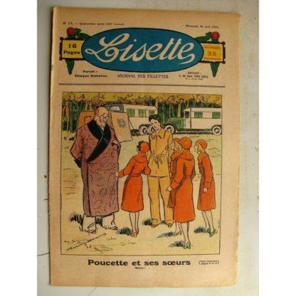 LISETTE n°17 (29 avril 1934) Poucette et ses soeurs (Georges Bourdin) Jase et Jasette (Pierre Portelette)